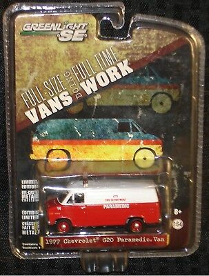 "GreenLight ""Vans Doing Work"" 1977 Chevrolet G20 Paramedic Van - 1:64"