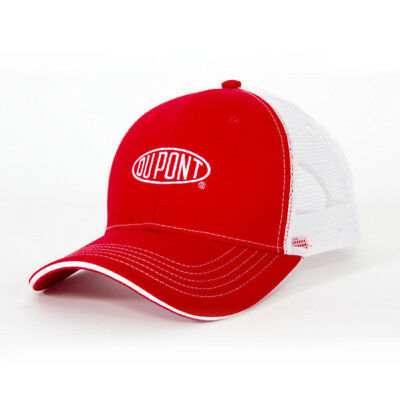 DUPONT *RED & WHITE MESH* Trademark Logo CAP HAT *BRAND NEW* DP01