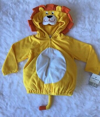 NWT Carteru0027s Yellow Lion Costume Halloween Baby Jacket 24 Months Unisex New : carters lion costume  - Germanpascual.Com