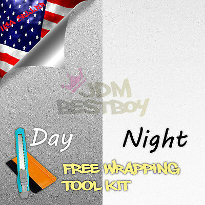 """*48""""x84"""" Reflective White Vinyl Wrap Sticker Decal Graphic Sign Adhesive Film"""