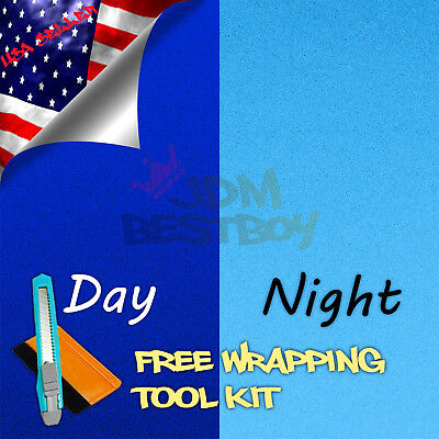 "*48""x72"" Reflective Blue Vinyl Wrap Sticker Decal Graphic Sign Car Adhesive Film"
