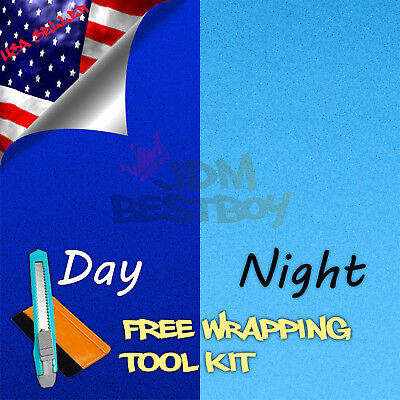"*24""x48"" Reflective Blue Vinyl Wrap Sticker Decal Graphic Sign Car Adhesive Film"