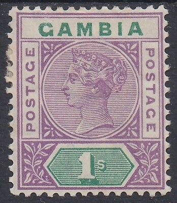 Gambia 1898 Qv Tablet 1/-