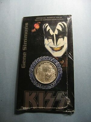 Gene Simmons Kiss Alive Worldwide Tour 1996-1997 Mint Sealed 999 Silver Coin G2