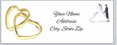 30 Personalized Return Address Labels Wedding Buy 3 get 1 free (bo 501)