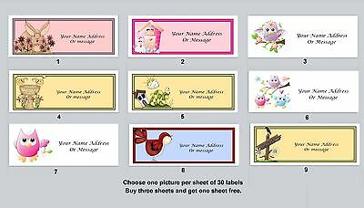 Personalized Return Address Labels Primitive Country Buy 3 get 1 free (pc 15)