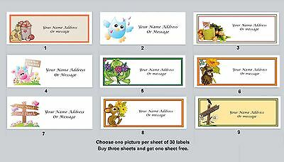 30 Personalized Return Address Labels Primitive Country Buy 3 get 1 free (pc16)
