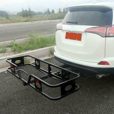 """500lbs Cargo Carrier Luggage Basket Receiver 2""""Hitch Black"""