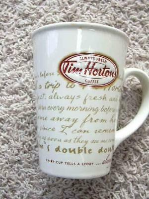 Tim Horton's 2009 Limited Edition Coffee Mug Every Cup tells a Story EUC