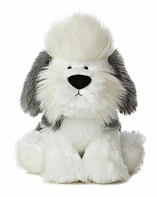 "New AURORA Stuffed Plush Toy OLD ENGLISH SHEEPDOG Puppy Dog Soft Animal 10"" WUFF"