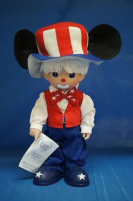 "I Want You at Disney World! Uncle Sam Hobo 12"" Vinyl Doll Precious Moments 5141"