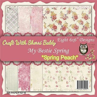 "NEW My-Besties SCRAPBOOK CARD PAPER PACK SET 6 X 6"" SPRING PEACH  free us ship"