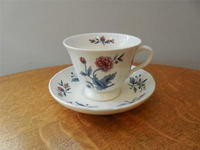 Wedgwood Potpourri Williamsburg creamware cup and saucer NK510