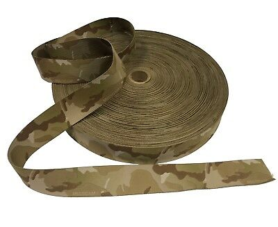 """50mm / 2"""" Double Sided Crye Multicam ARID Webbing + CTEdge™ ( Military Tape"""