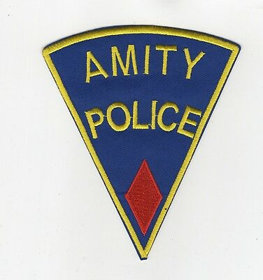 Jaws Movie Amity Police Uniform Red Diamond Patch 5 inches tall