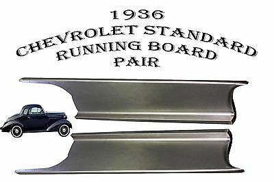 1936 Chevrolet Chevy Standard and Sedan Delivery Steel Running Board Set 36