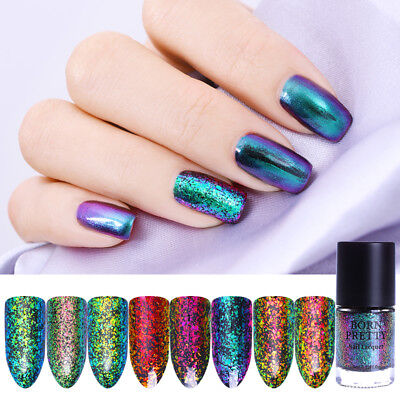 9ml Chameleon Starry Sky Nail Polish Sequins Nail Art Varnish Decor Born Pretty