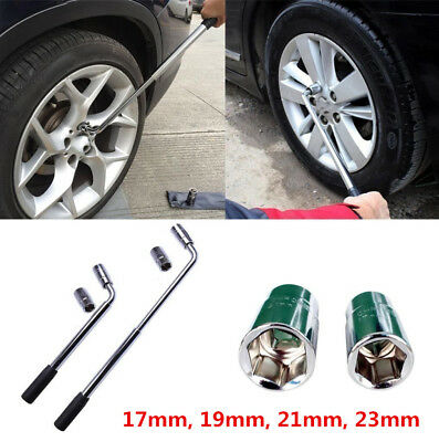 Wheel Master Wrench Telescopic Extendable Socket Nut 17-19/21-23mm Tyre Cars Van
