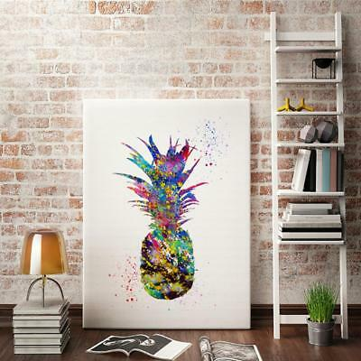 Abstract Pineapple Art Oil Painting Print Canvas Picture Wall Room Decor M