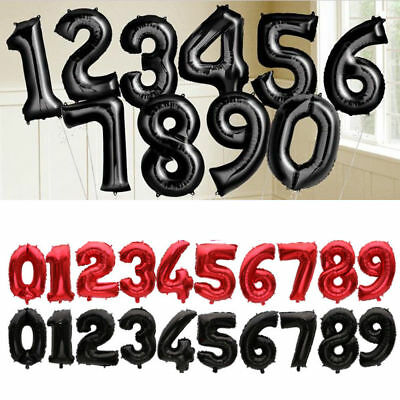 32'' 1~9 Number Letter Aluminum Foil Balloons Happy Birthday Party Wedding Decor