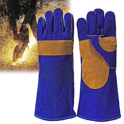 Anti-stab Padded Long-Cuff Garden/Driving Cowhide Stick Welding or Grill Gloves