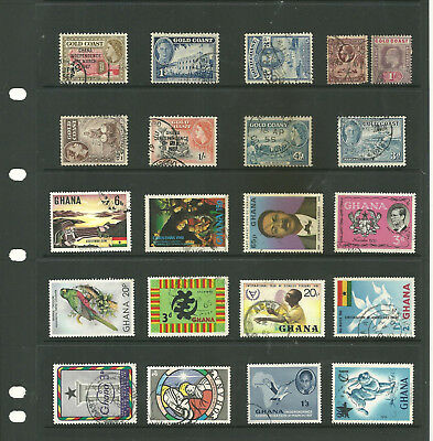 Commonwealth Gold coast/Ghana   Africa   one stock sheet mix collection stamps