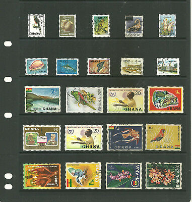 Ghana Africa   one stock sheet mix collection stamps