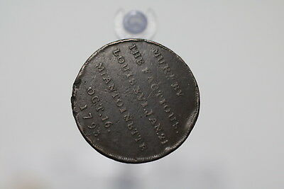 UK GB Middlesex - Token Halfpenny - Louis XV and Marie Antoinette - 1793 A76 #K9