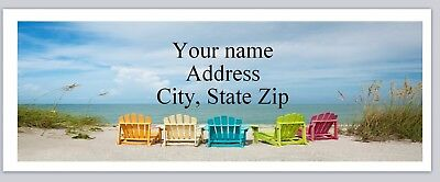 Personalized Address labels Scenic Beach Buy 3 get 1 free (c 679)