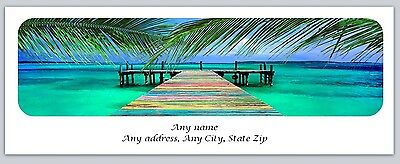 30 Personalized Return Address Labels Scenic Beach Buy 3 get 1 free (c 770)