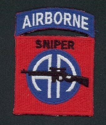 US ARMY 82nd Airborne Division Sniper ALL AMERICA Uniform patch Aufnäher