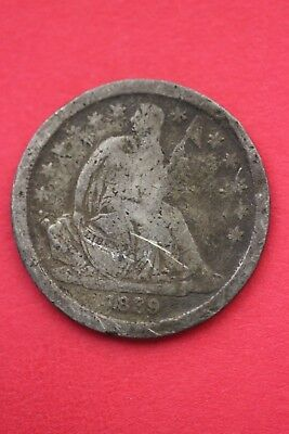 1839 P Seated Liberty Dime Exact Coin Pictured Flat Rate Shipping OCE251