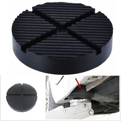 Car Rubber Cross Slotted Frame Rail Floor Jack Disk Pad Adapter Pinch Weld Side