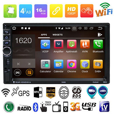 "Quad Core Android 7.1 3G WIFI 7"" Double 2DIN Car Radio Stereo MP5 MP3 GPS Player"