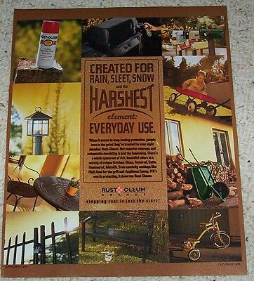 2002 ad page - Rust-Oleum spray paint Print Advertising ADVERT clipping page