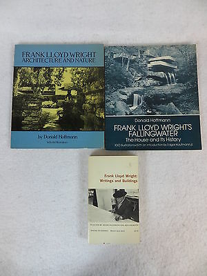 Lot of 3 FRANK LLOYD WRIGHT Architecture Nature Fallingwater Writings & Building