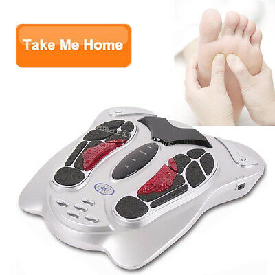 Electromagnetic Wave Pulse Circulation Foot Massager Reflexology Booster Gift CE