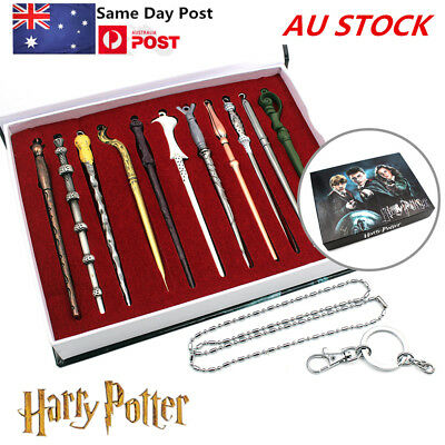 11PCS Harry Potter Wands Magic Hermione Dumbledore Sirius Voldemort Boxed Toy AU