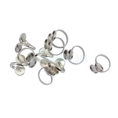 10pcs Brass Ring Settings 12mm Double Cabochon Base DIY Making Finding Craft