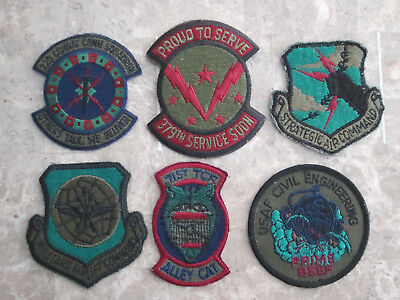U.s Air Force Usaf Patch Lot #10   (6 Patches) *fast-Free Shipping*   L@@k