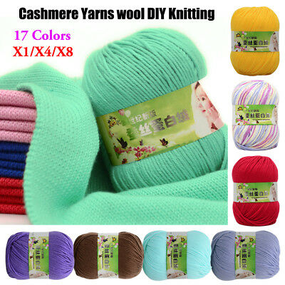 DK 6 Ply Colorful Super Soft Baby Crochet Milk Cashmere Cotton Yarn Ball 50g AF