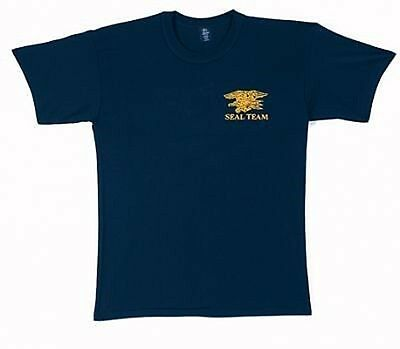 US NAVY SEALS TEAM USN SEAL ARMY LOGO Blue T-SHIRT shirt S