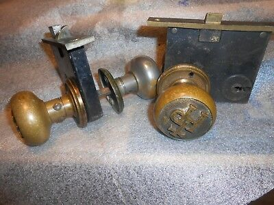 Pair of Antique HP Hyde Park Catholic Church Mortise Locksets Doorknobs