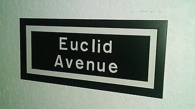 Framed Matted Nyc Subway Sign Collectible Euclid Ave Brooklyn Home Art Roll Sign
