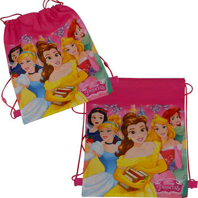 LOT 12 Disney Princess Non Woven Sling Bag Backpack Birthday Party Favors