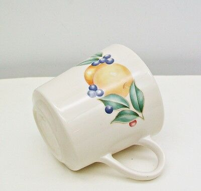 CORELLE By Corning  ABUNDANCE Mug TEA Cup  Fruit Peaches Cherries Grapes Leaves