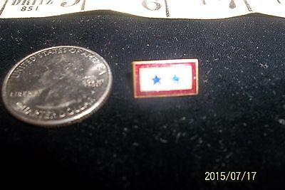 WWII Sons In Service Enamel Blue Star Home Front Lapel Pin son 2 star
