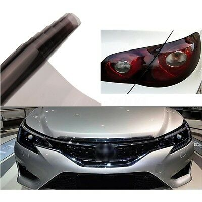 "16""x48'' Smoke Headlight Taillight Fog Light Tint Film Vinyl Wrap Cover 40x120cm"