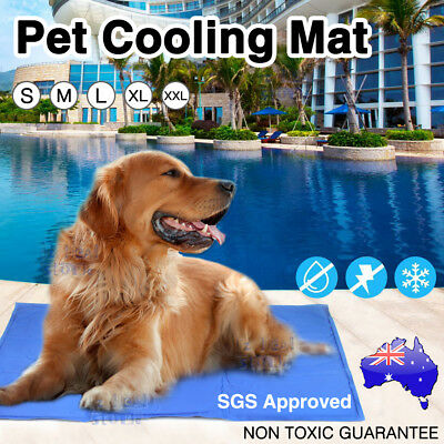 Pet Cooling Gel Mat Pad Dog Cat Bed Non-Toxic Cool Summer Small Large 5 Sizes AU
