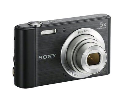 Sony 20.1MP Digital Camera - Black (DSCW800/B)